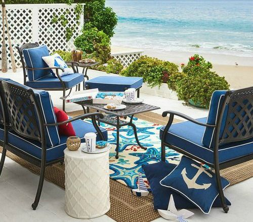 Blue Beach Rugs For Outdoor Living Coastal And Rooms