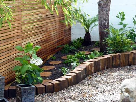 Wooden stepping stones amongst the plants jardin pinterest wooden stepping stones amongst the plants workwithnaturefo