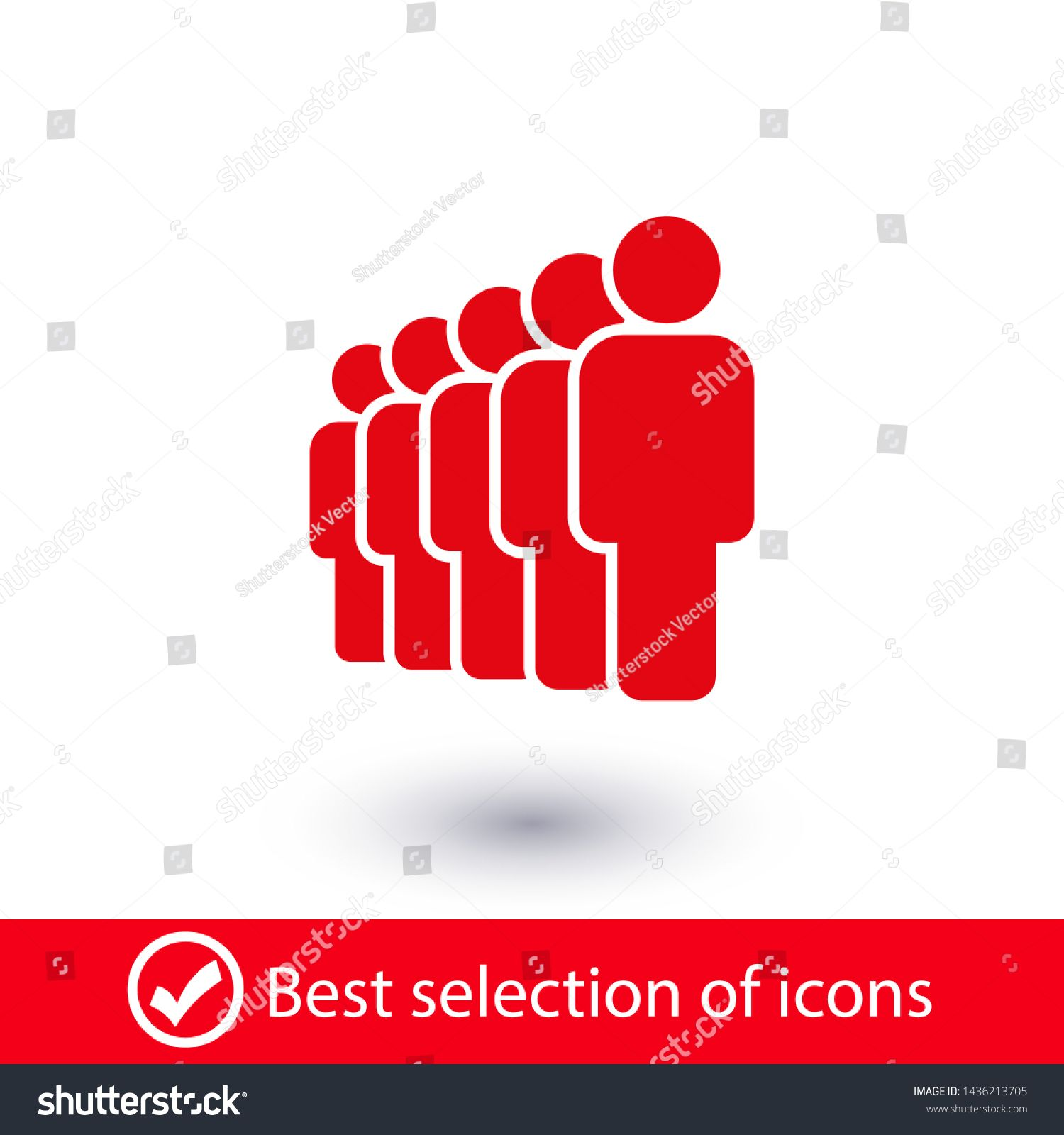 People Vector Icon Person Symbol Work Group Team Persons Crowd Vector Illustration Icon Group Of People Pictogram In 2020 Graphic Art Prints People Icon Pictogram