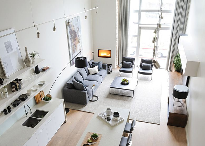 Cozy Corner Visitors to this Main Street loft, designed by Alec ...
