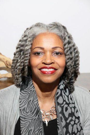 gray hair styles natural
