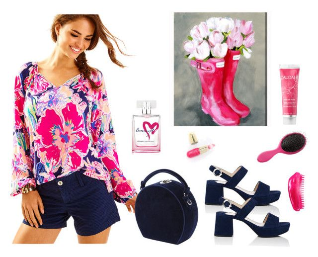 """""""conjunto392"""" by lauracabrera-2 ❤ liked on Polyvore featuring Lilly Pulitzer, Prada, Bertoni, Oliver Gal Artist Co., Charlotte Russe, Caudalíe, philosophy, Winky Lux and Tangle Teezer"""