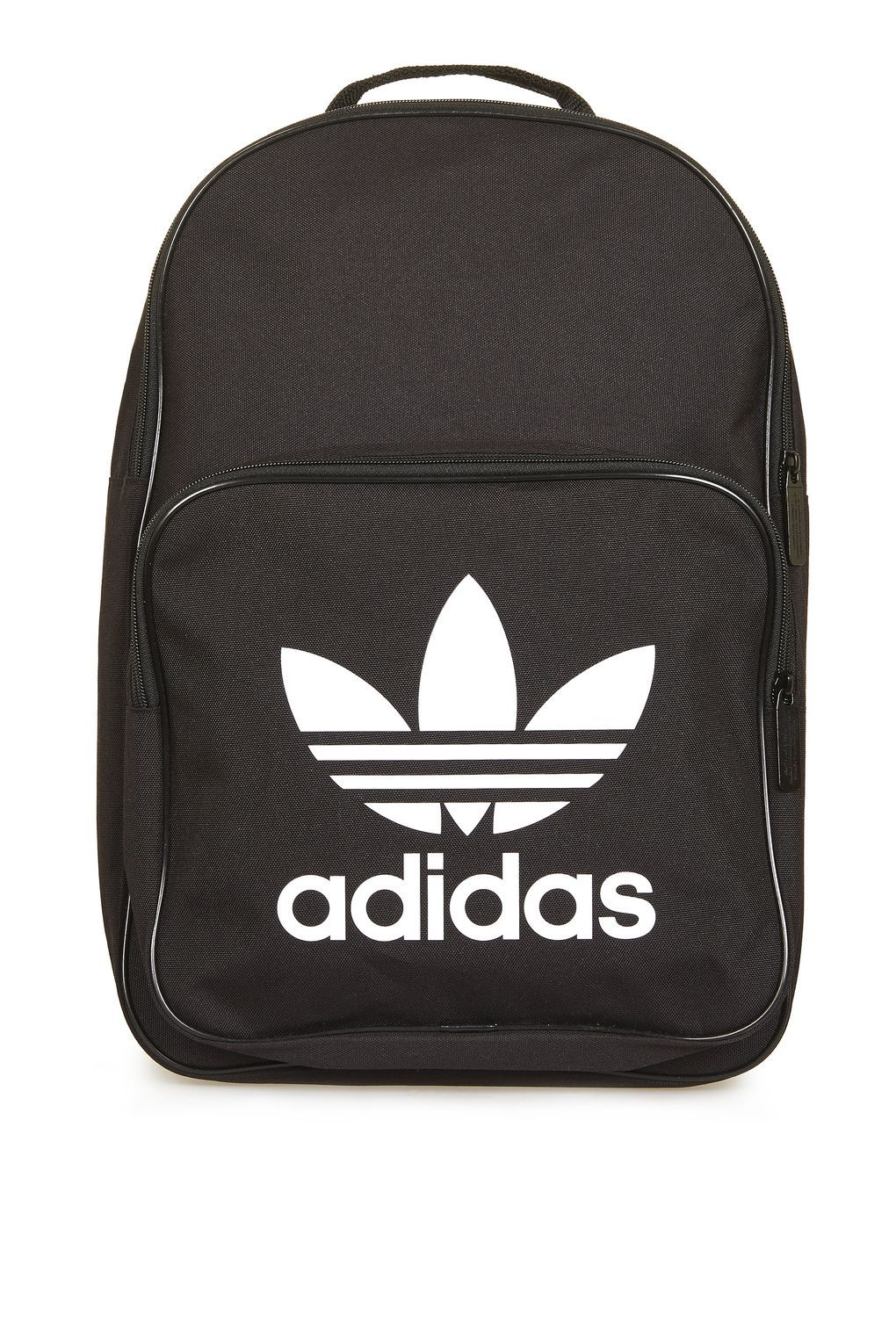 3188867064fb0 adidas Originals Trefoil Logo Backpack In Black ( 28) ❤ liked on Polyvore  featuring bags