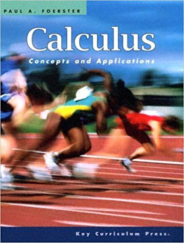 Calculus Concepts And Applications Paul A Foerster 9781559536547 Amazon Com Books Calculus Precalculus Curriculum