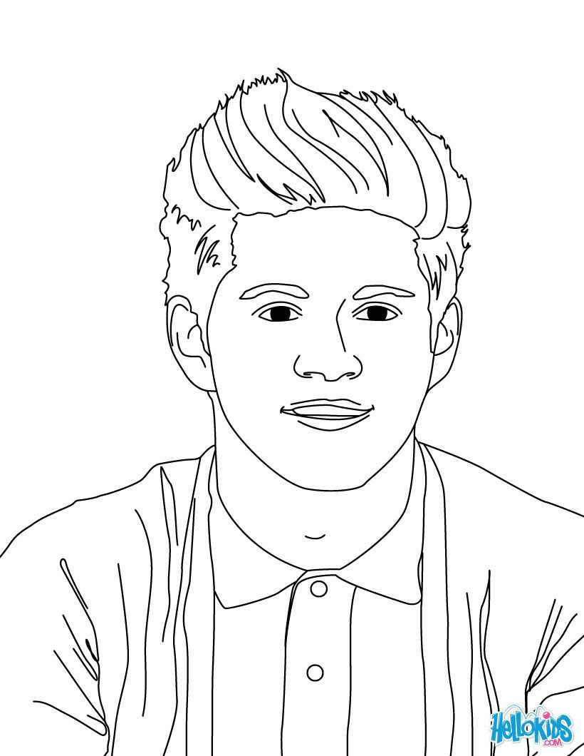 Niall Horan coloring page. More One Direction coloring sheets on ...