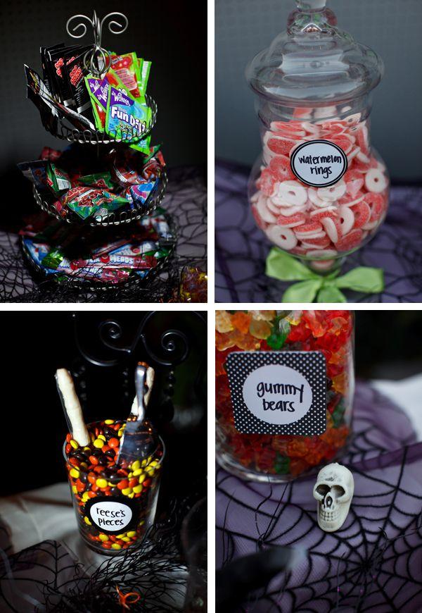 candy-bar-halloween-tiers-jars-spider-webs