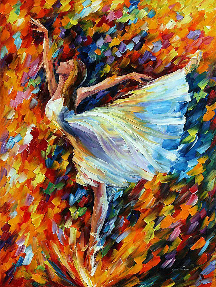 The Beauty Of Lovely Dance Oil Painting On Canvas Ballet