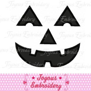Halloween Pumpkin Face Applique Machine Embroidery Design NO:1236