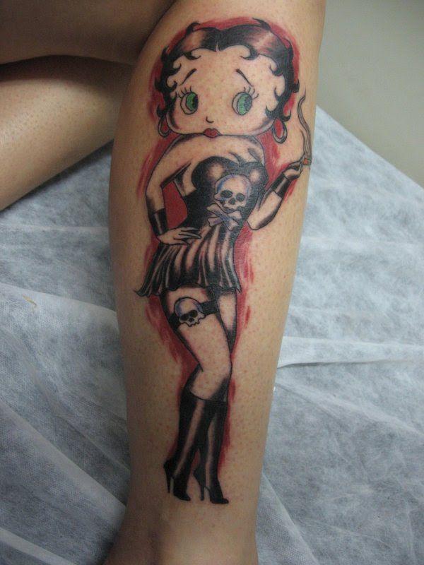 Adult betty boop tattoo