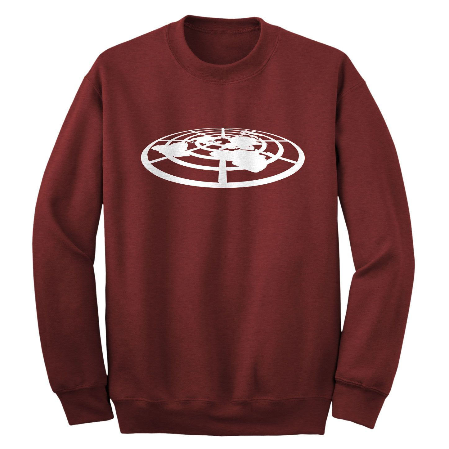 Flat Earth Society Adult Crewneck Sweatshirt Products