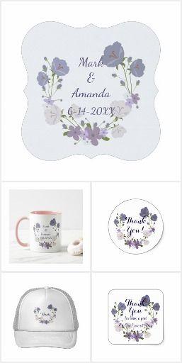 Purple Lavender Blue Floral Wedding Design