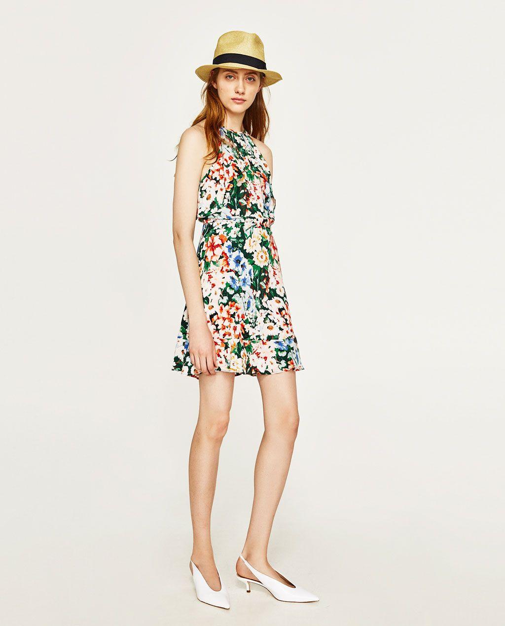 Zara robe courte a fleurs