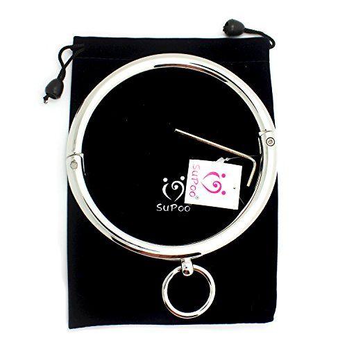SuPoo® Women's Stainless Steel Slave Locking Neck Choker Collar