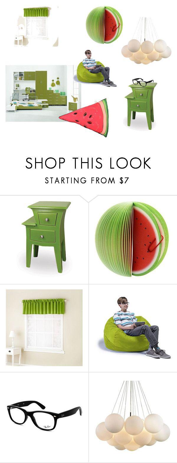 """Watermelon Room Theme"" by megmarg on Polyvore featuring interior, interiors, interior design, home, home decor, interior decorating, Sun Zero, Jaxx, Ray-Ban and Silken Favours"