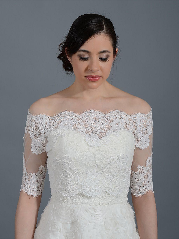 New Lace Shrug for Wedding Dress Check more at http://svesty.com ...