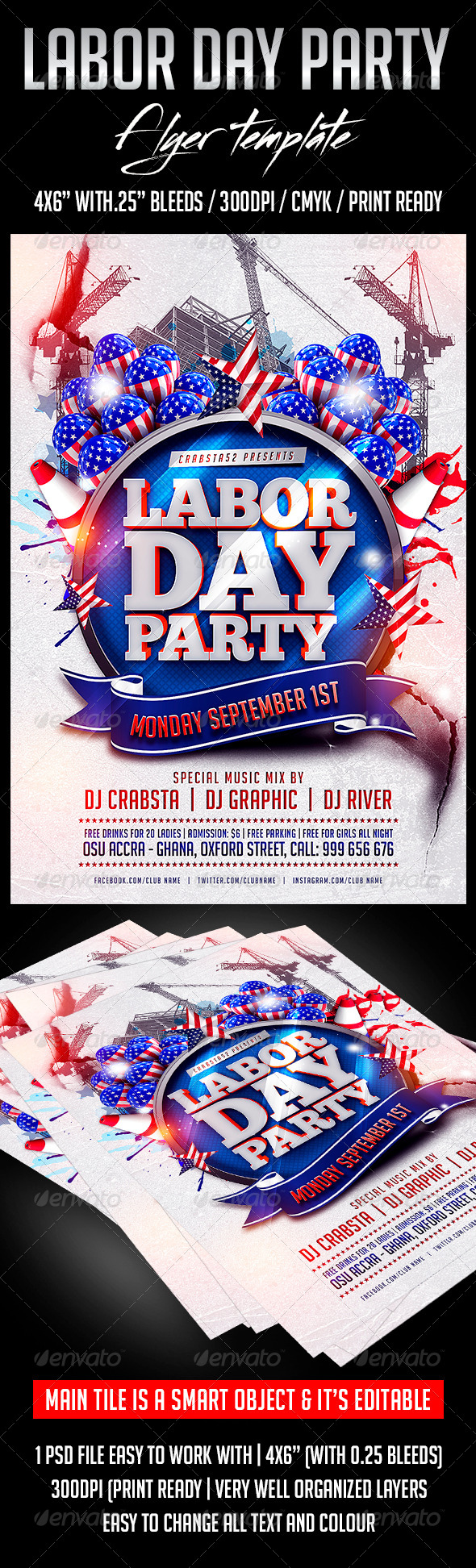Labour Day Party Flyer Template  Party Flyer Flyer Template And