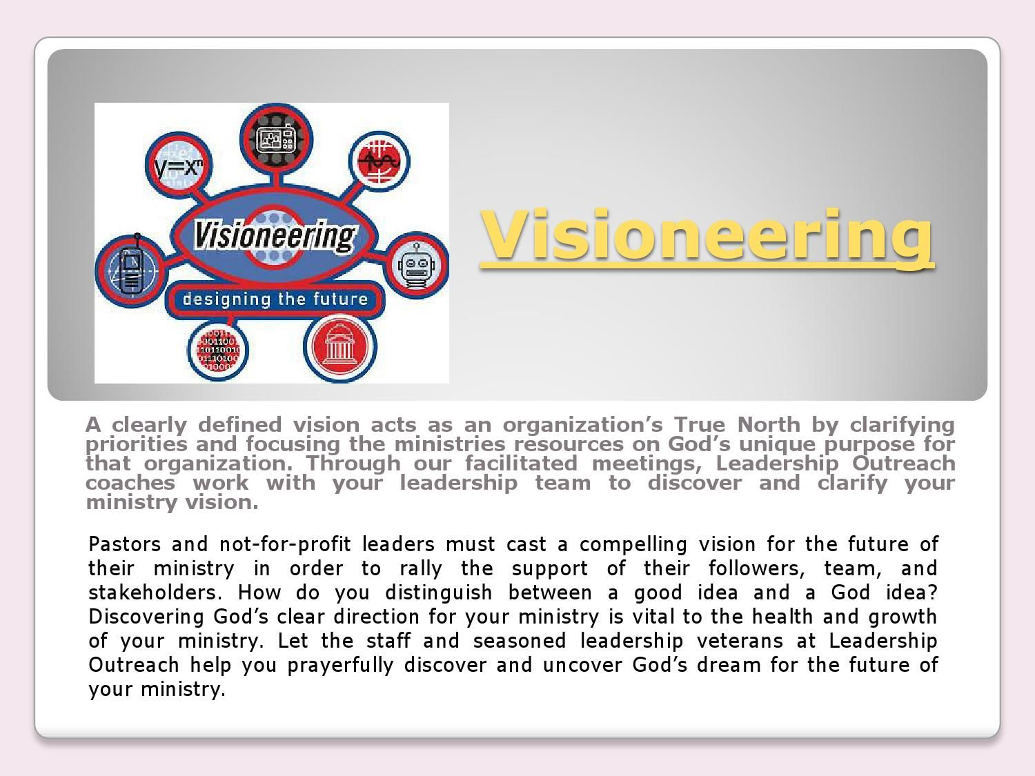 Non profit consulting Leadership excellence, Vision