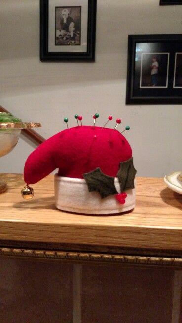 Santa hat pincushion
