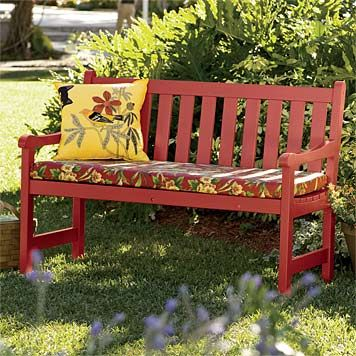 painted outdoor bench