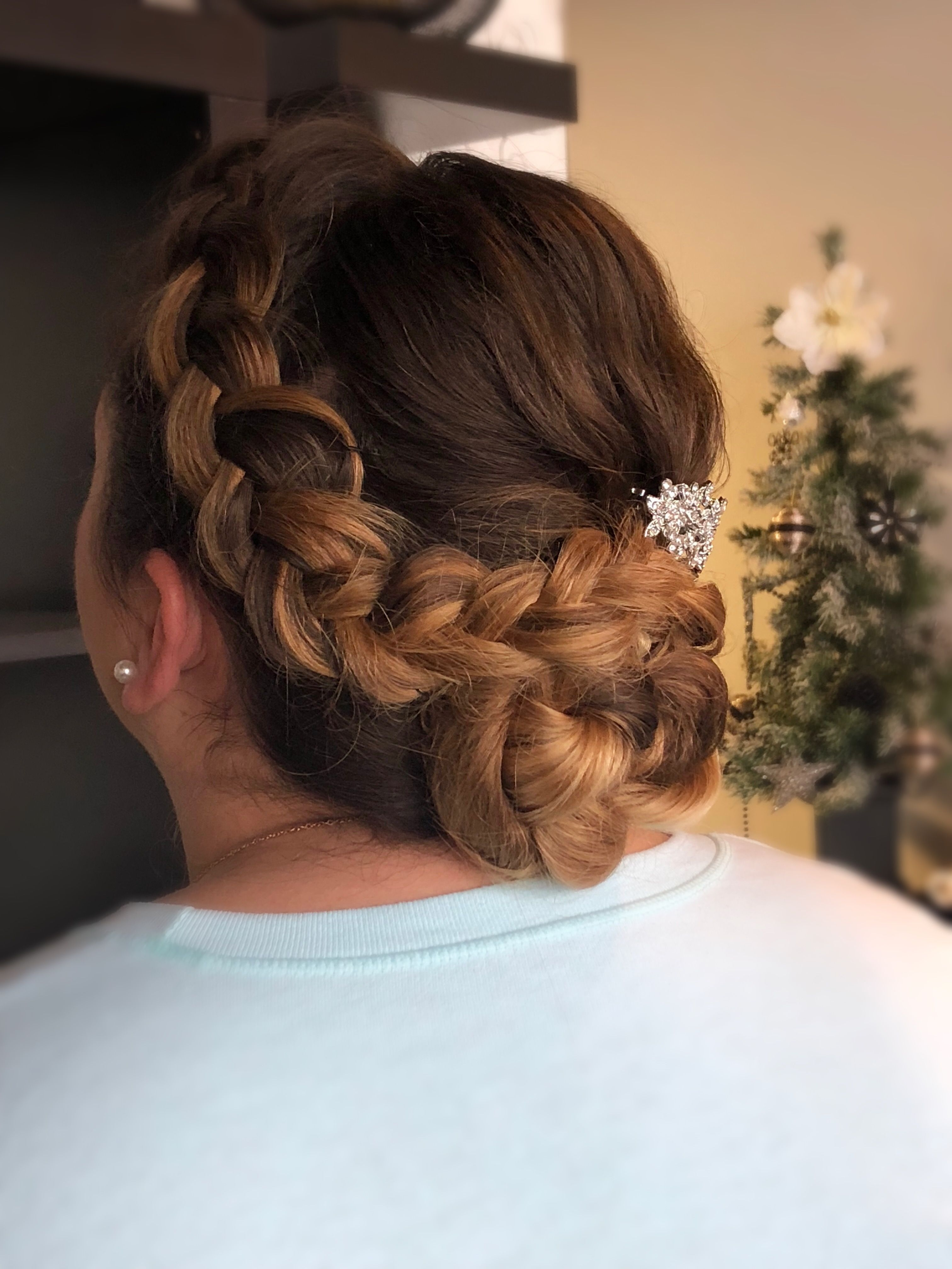 bridal updo by jillain at jluxe salon in syracuse new york