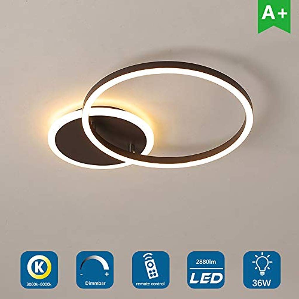 Led Deckenleuchte Ring Dimmbare Moderne Deckenlampe Mit Fernbedienung Mode Metall Acryl Schlafzimmer Kuche Esszimmer Led Deckenleuchte Moderne Deckenlampen Led
