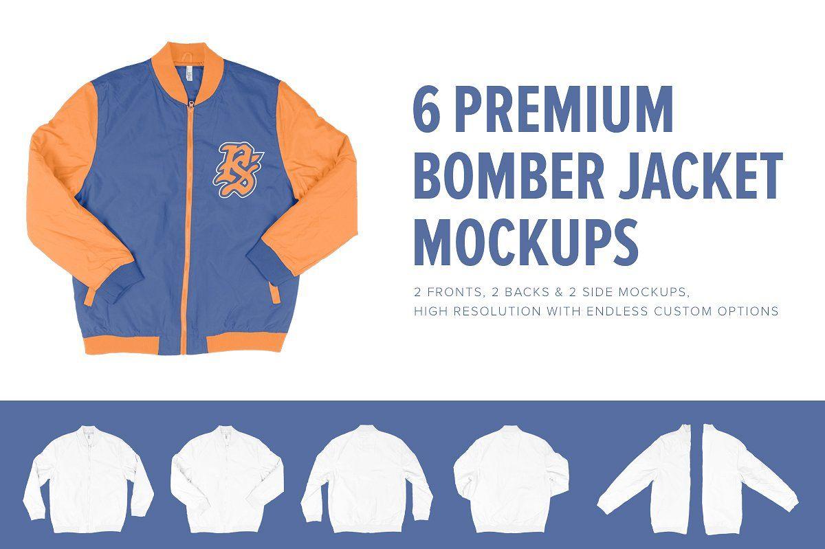 6 premium letterman jacket mockups by pixel sauce on creativemarket