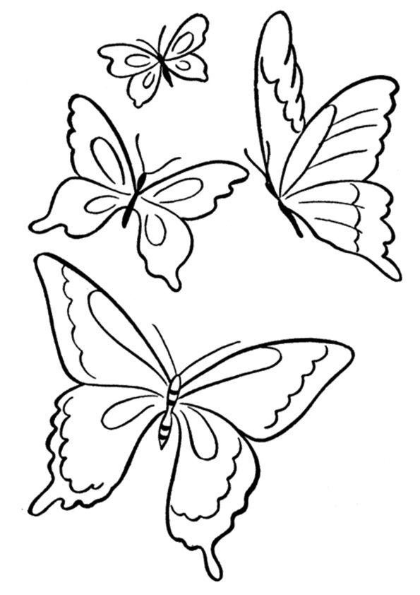 print coloring image | Coloring | Pinterest | Mariposas y Lindo