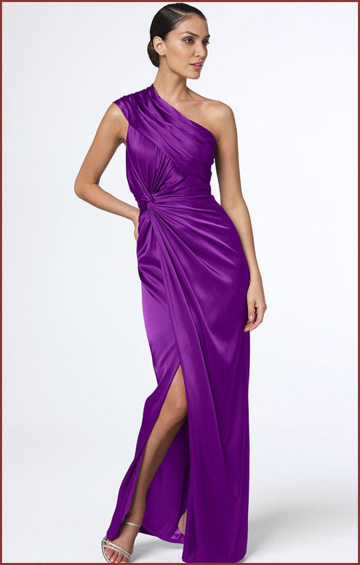 one shoulder dress | ... One Shoulder Purple Long Dress for ...