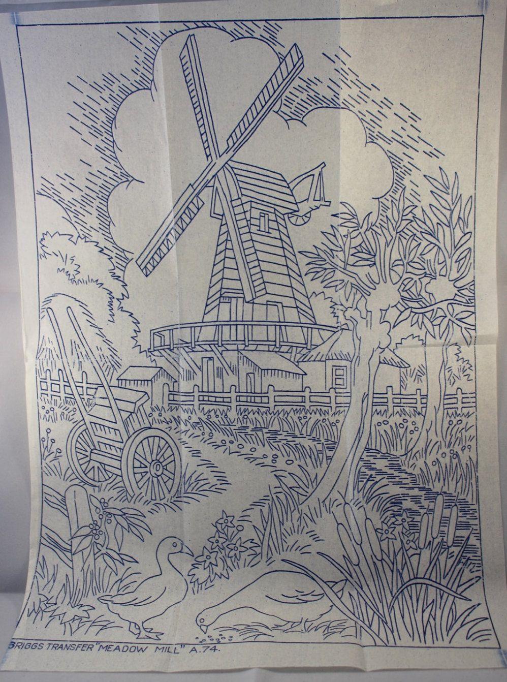 Meadow mill vintage ironon embroidery transfer briggs a by