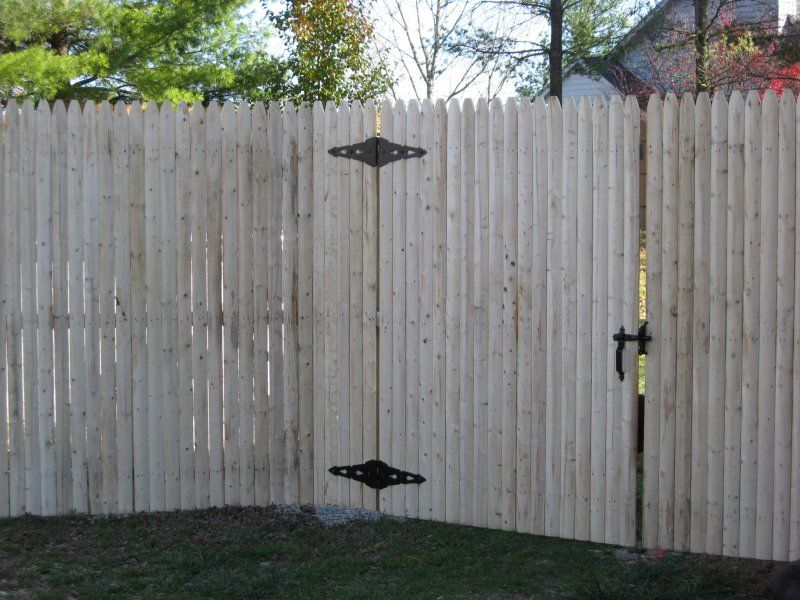 Gray Stockade Fence - Google Search