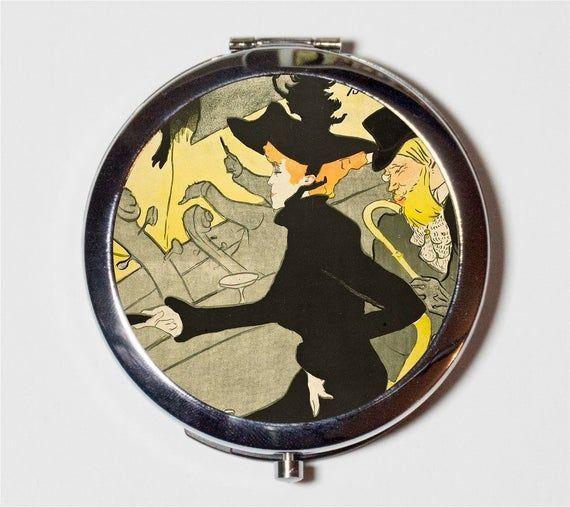 Henri Toulouse Lautrec Kompaktspiegel  ArtDecoJugendstilPlakatkunst  MakeupTaschenspiegel für Kosmetika  Henri Toulouse Lautrec Kompaktspiegel  ArtDecoJugendstilPlak...