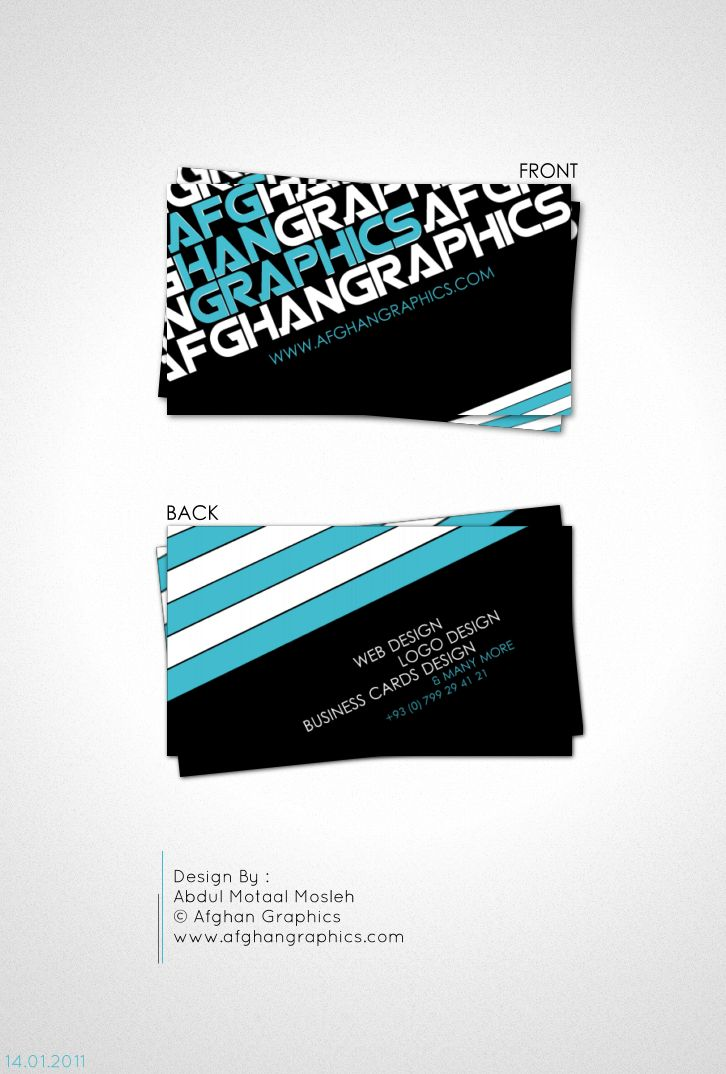Afghan Graphics Business Card3 Http Www Techirsh Com Business Card Logo Design Business Card Minimalist Cool Business Cards