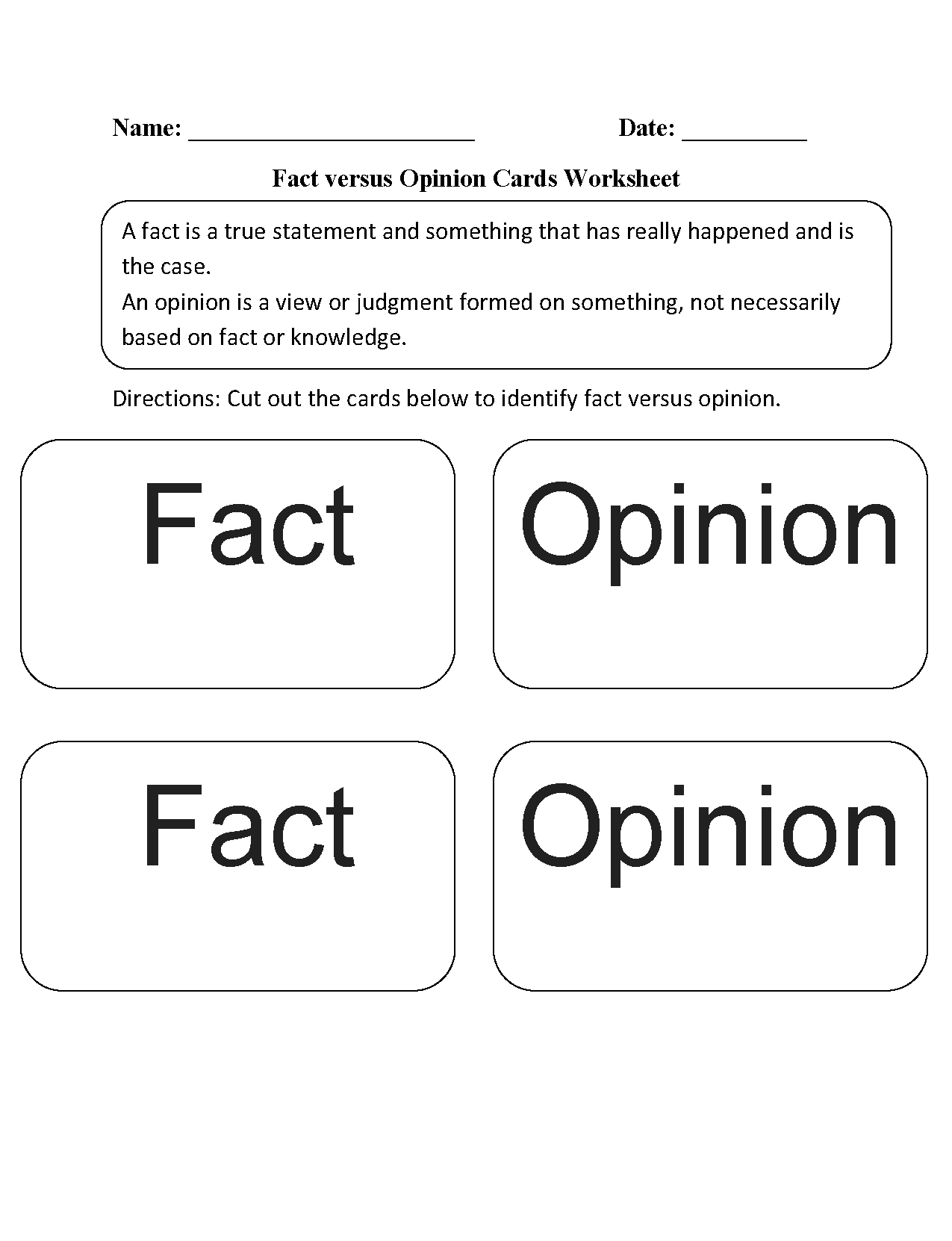 Reading Worksheets