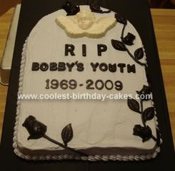 Cake Decorating Jokes : Coolest Tombstone Cake Sheet cake pan, Cake and Homemade