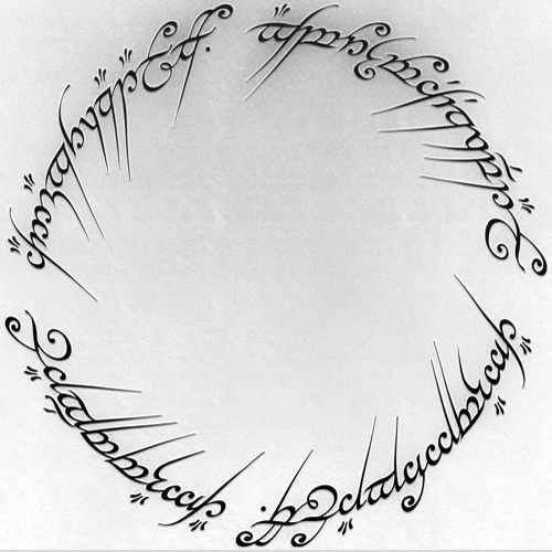 One Ring Inscription Lord Of The Rings