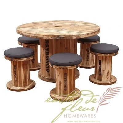 Spindle Table Amp Chair Outdoor Dining Patio Setting