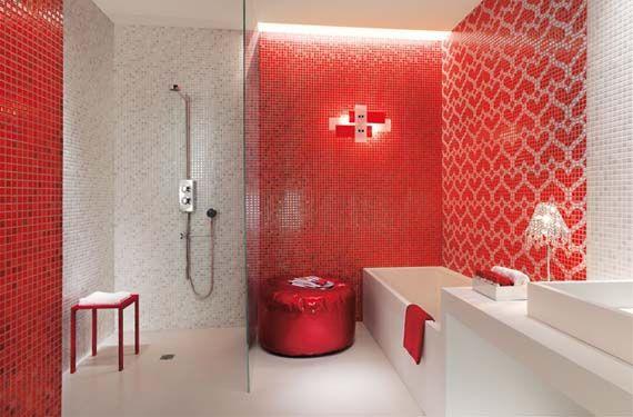 Baños En Color Rojo Baños De Colores Decoración Del Baño Molde De Baño