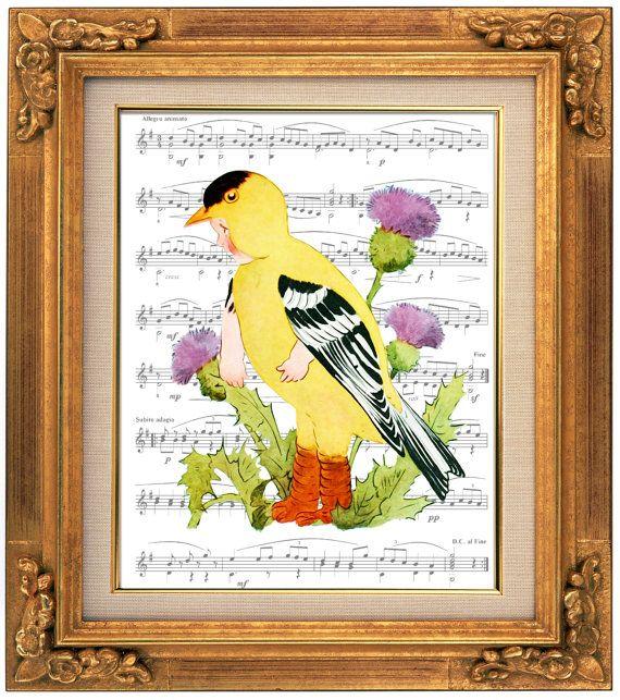 A Floral Fantasy, Bird Children, A Goldfinch, Victorian Giclee ...