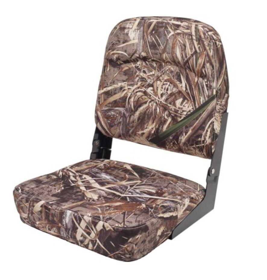 Folding Boat Seats Max5 Camo Fishing Bass Chair