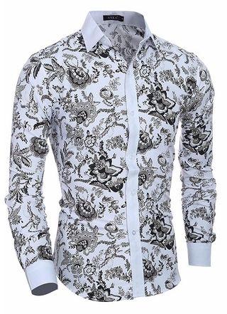 Camisa Casual   Social Moderna - Diseño Floral Clásico  117b6f698c7