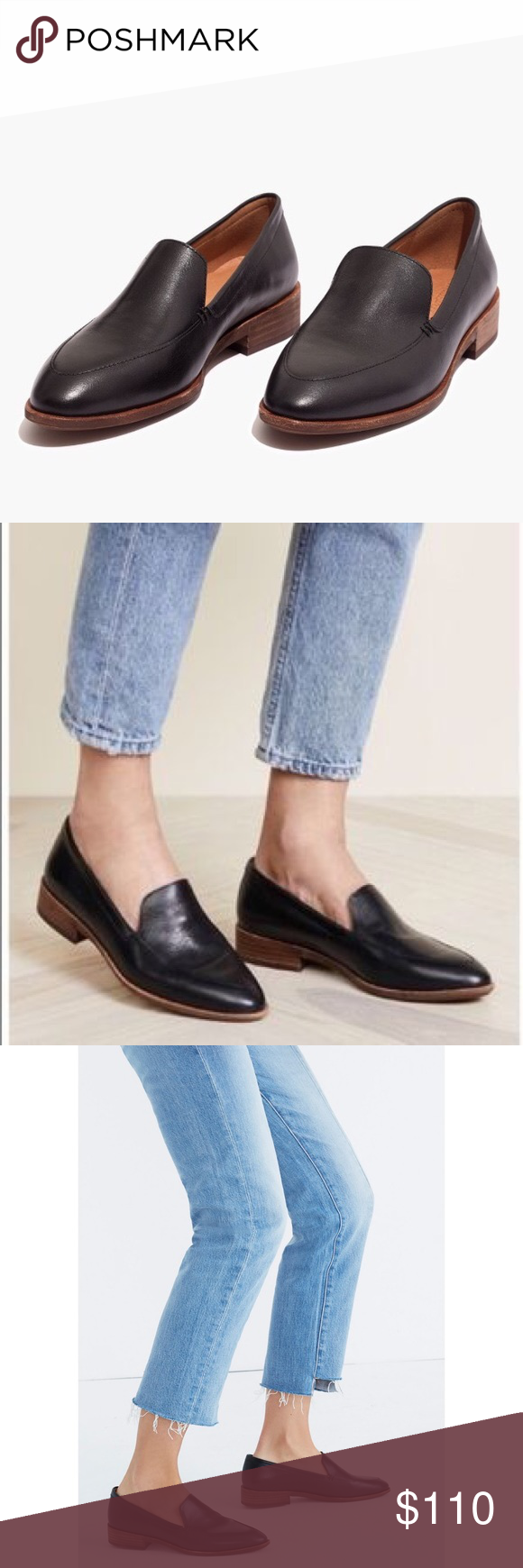 8b9ca465dad Madewell Frances 7 Black Leather Loafer Madewell Frances 7 Black Leather  Loafer Streamlined loafers in a