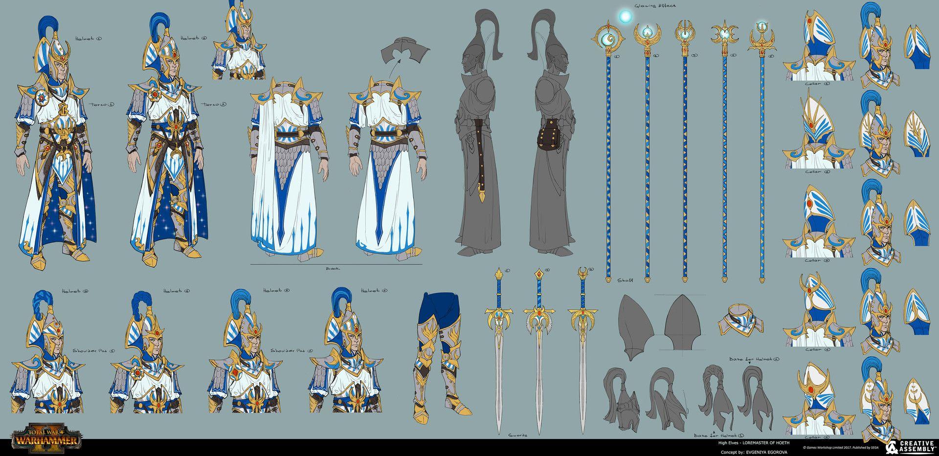 Artstation darkhigh elves total war warhammer ii