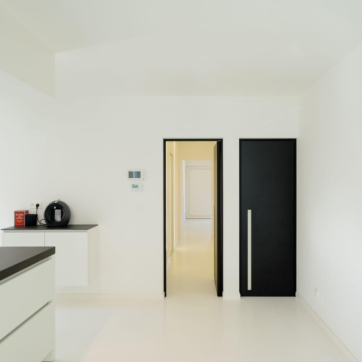 Porte intérieure noir de anyway doors avec des poignées encastrées