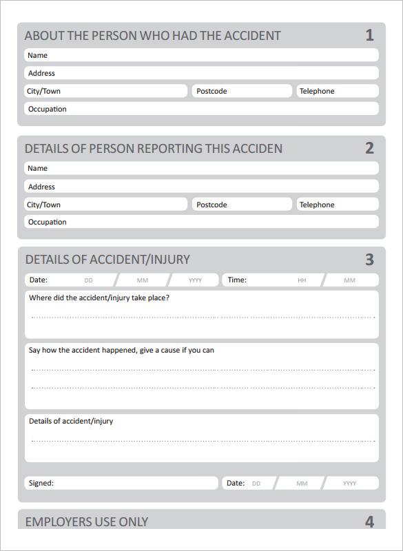 Incident Report Book Template 3 Professional Templates Report Template Book Template Incident Report