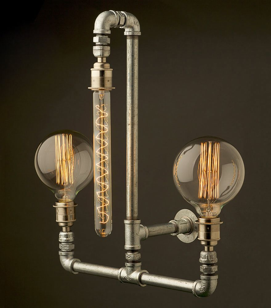 Edison Light Globes Part 2 Brassy Classy Steampunk Style Lamp Fixtures Design Lampen Rohr Beleuchtung Edison Beleuchtung