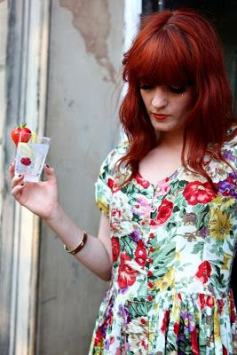 Florence Welch fashion floral dress