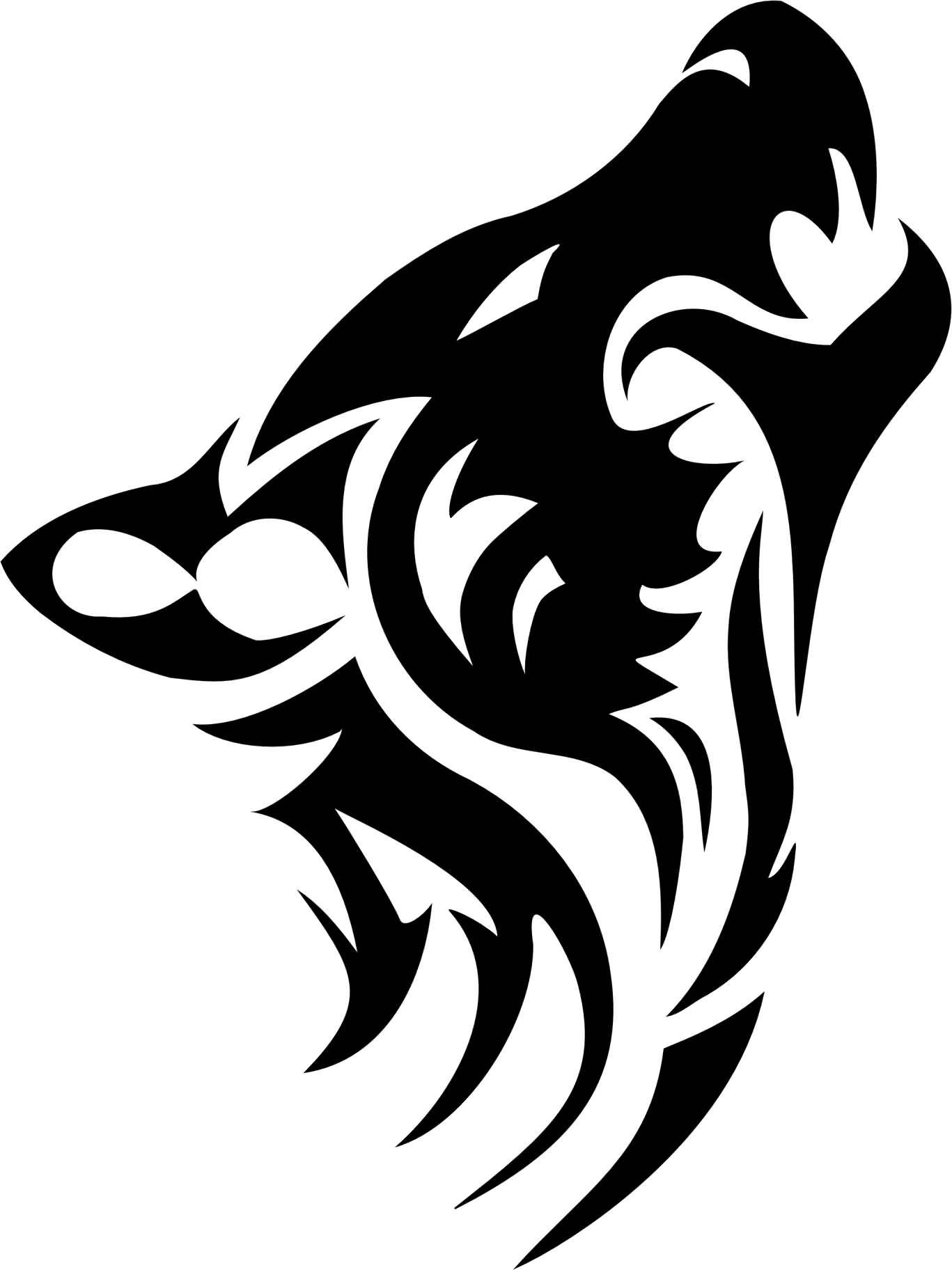 Wonderful Roaring Tribal Wolf Head Tattoo Design Henna Wolf