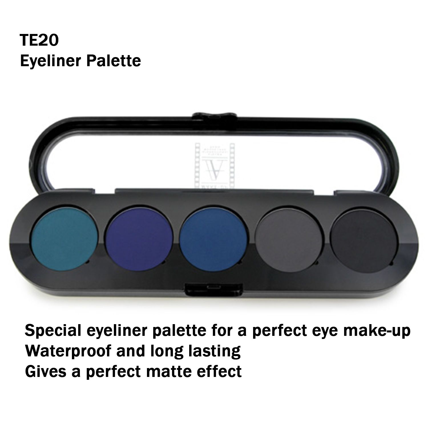 Different shades of eyeliner that gives matte effect. Easy