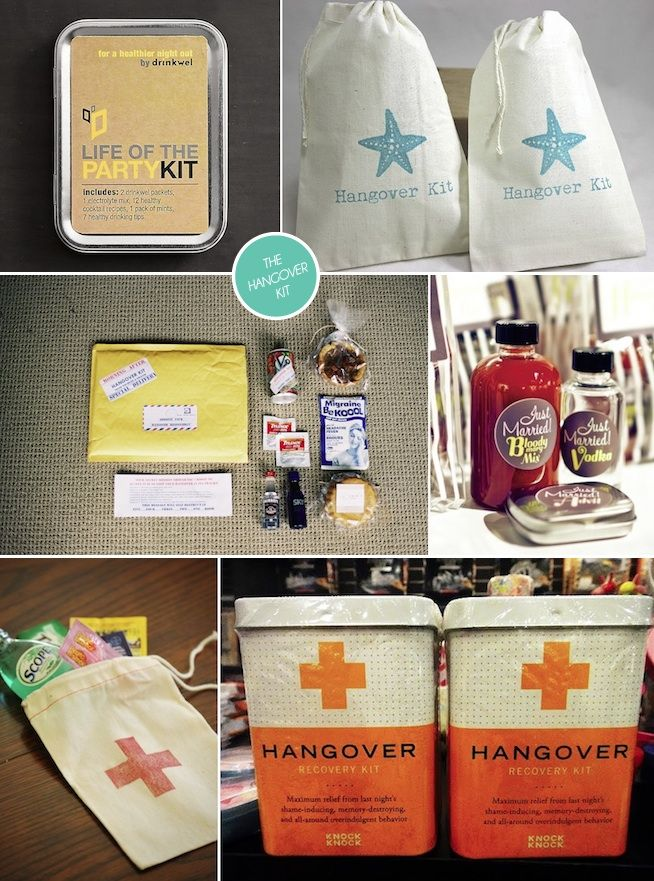 Wedding Favours The Hangover Survival Kit