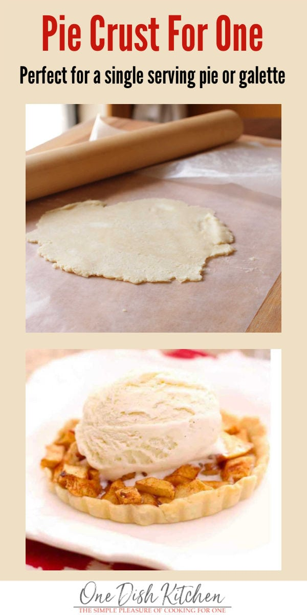 How To Make A Pie Crust For One | Single Serving Recipe | One Dish Kitchen #recipeforpiecrust